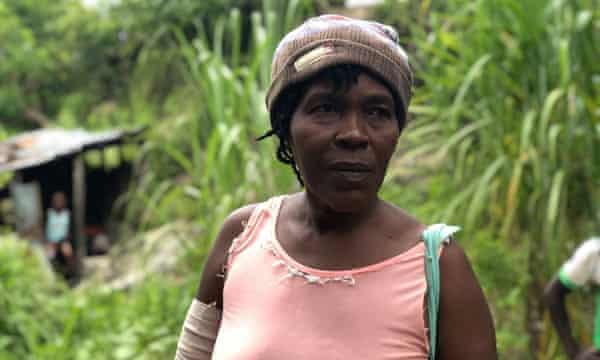 Moise Magaly s'approchait d'une récolte de haricots lorsque le séisme a frappé