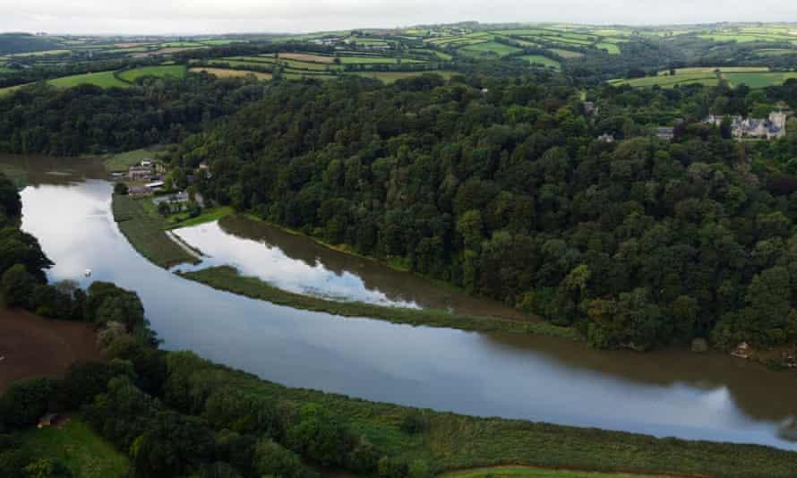 Une photographie aérienne du site a été réussie.